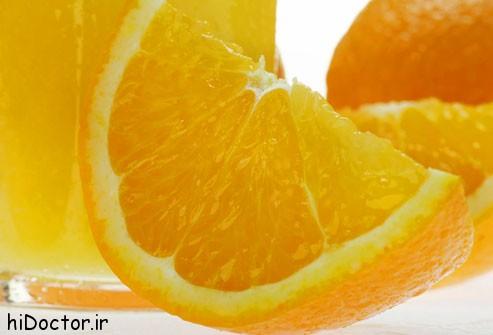 بهبود سلامت پوست، موها و ناخن ها با آب پرتغال