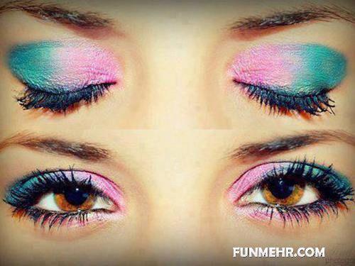 مدل های جدید آرایش چشم و صورت ۲۰۱۲