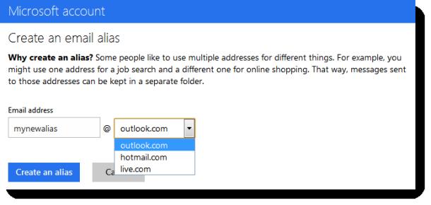آموزش ایجاد ایمیل مستعار در Outlook.com