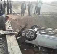 واژگونی مرگبار خودرو سمند در ایلام