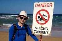 علی پهلوان در استرالیا (برای بزرگنمایی کلیک کنید)