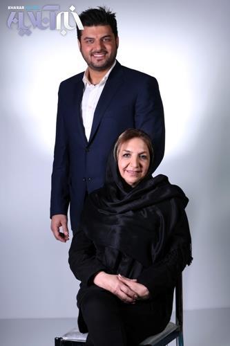 عکس سام درخشانی در کنار مادرش