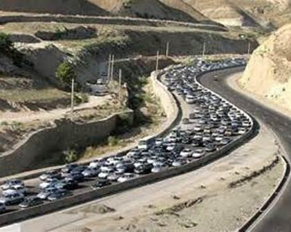 ترافیک سنگین در ورودی های شهر تهران