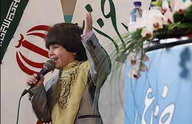 حضور نابغه ۵ ساله در نمایشگاه قرآن