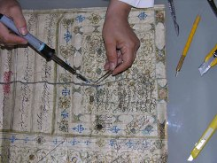 دوره آموزش مرمت اسناد برائ جمعی از کارشناسان عمانی در آرشیو ملی ایران برگزار شد