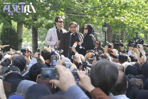 عکسهای بازیگران معروف در مراسم تشییع پیکر عسل بدیعی
