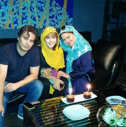 PICACT.ir | عکس شخصی و جدید بهاره رهنما و همسرش پیمان قاسم خانی و دخترش پریا