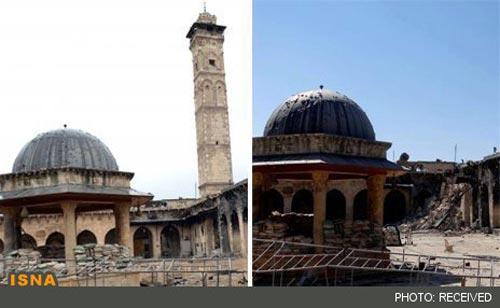 تخریب میراث جهانی یونسکو در سوریه +عکس