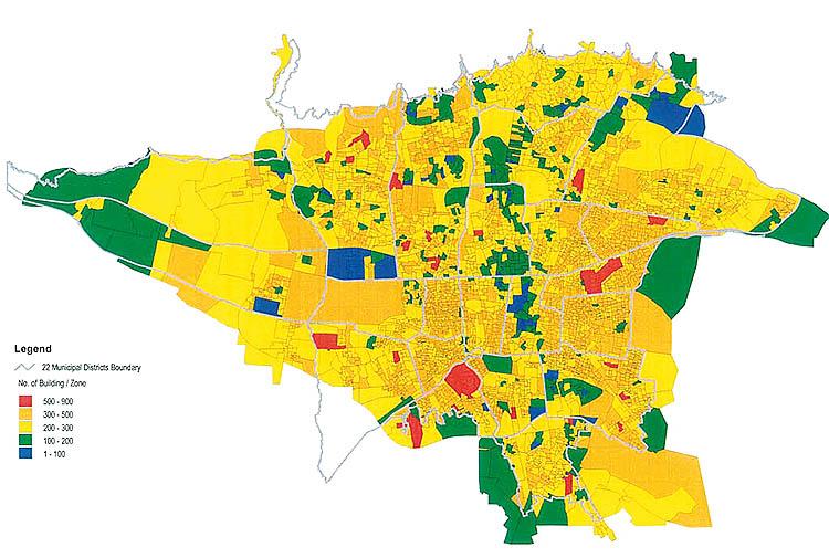 نقشه مناطق زلزله خیز تهران