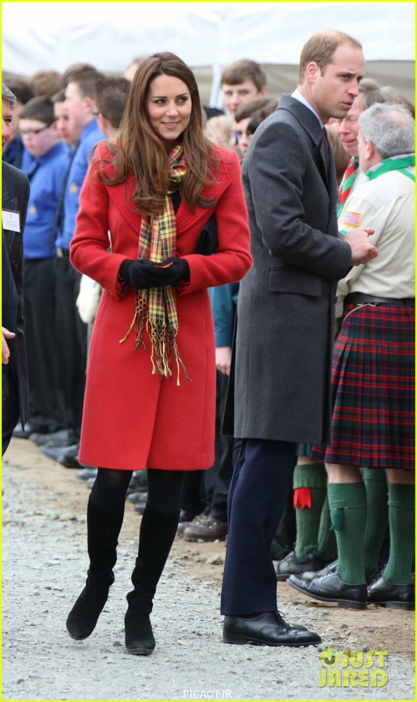 عکس جدید کیت میدلتون حامله و همسرش پرنس ویلیامز