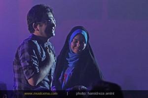تصویری تازه از آزاده نامداری و فرزاد حسنی در کنسرت فرزاد فرزین