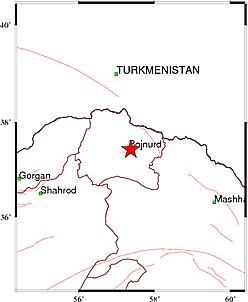زلزله خراسان شمالی را لرزاند+ جزئیات