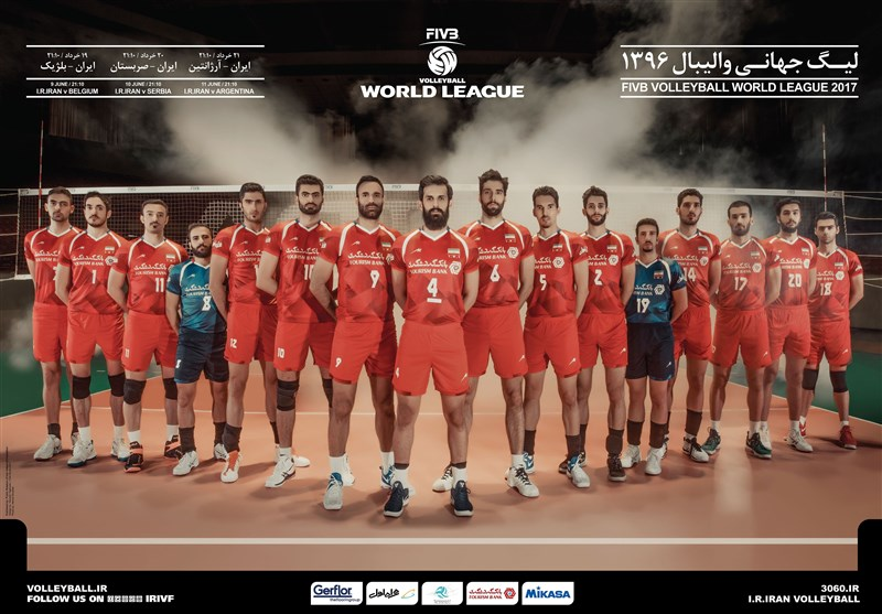 پوستر تیم ملی والیبال ایران در لیگ جهانی والیبال ۲۰۱۷ + عکس
