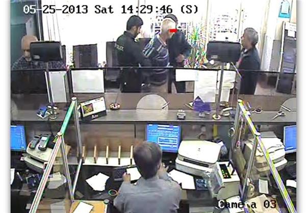 دستگیری سارق مسلح بانک توسط مردم + عکس