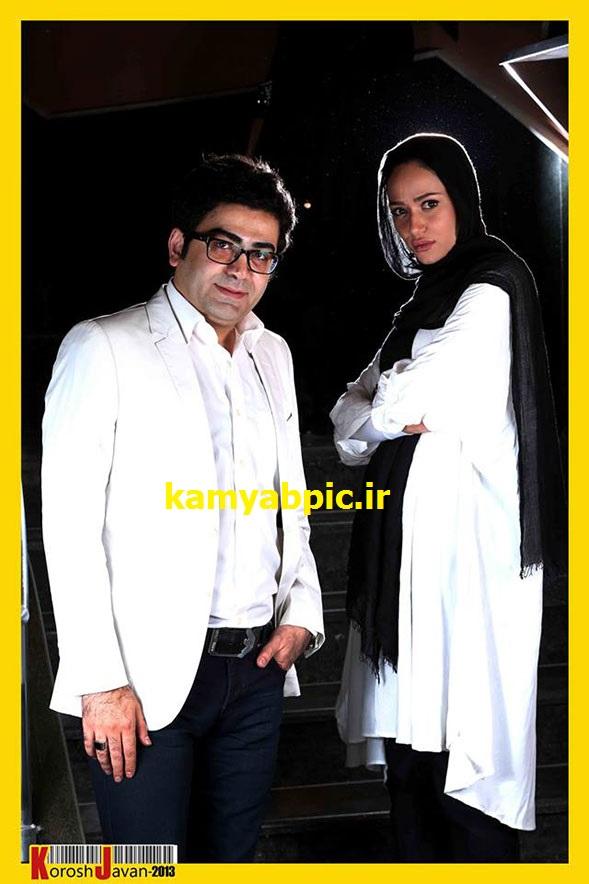 عکس پریناز ایزدیار کنار فرزاد حسنی