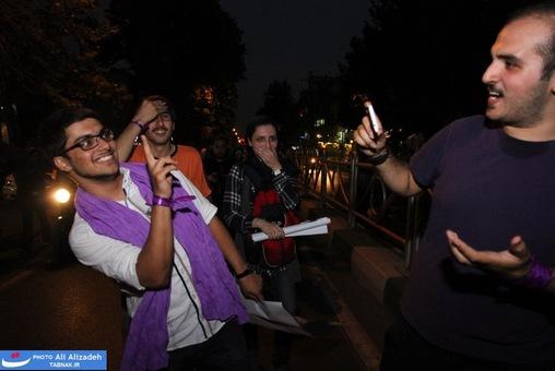 تصاویر : شادی مردم پس از اعلام نتایج آرا