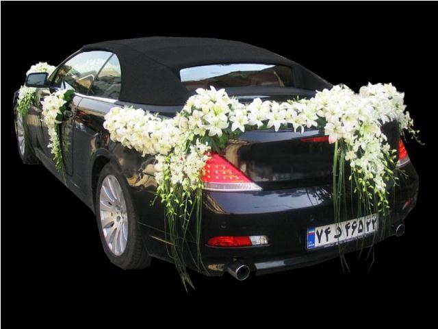 مدل تزئین ماشین عروس ۹۲