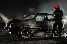 حریق زنجیرهای چند خودرو در تهران