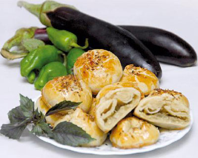 کلوچه بادمجان کبابی