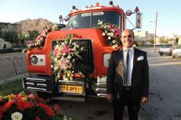 تریلی ماشین عروس می گردد+تصویر