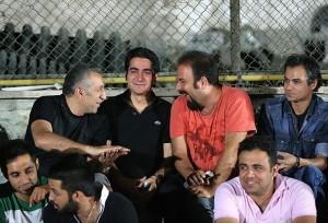 همایون شجریان در جام فوتبال ستاره ها (رمضان)+عکس