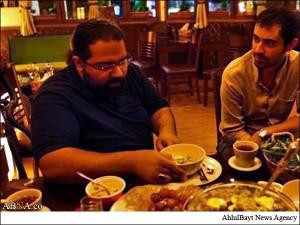 افطاری شهاب حسینی و رضا صادقی +عکس