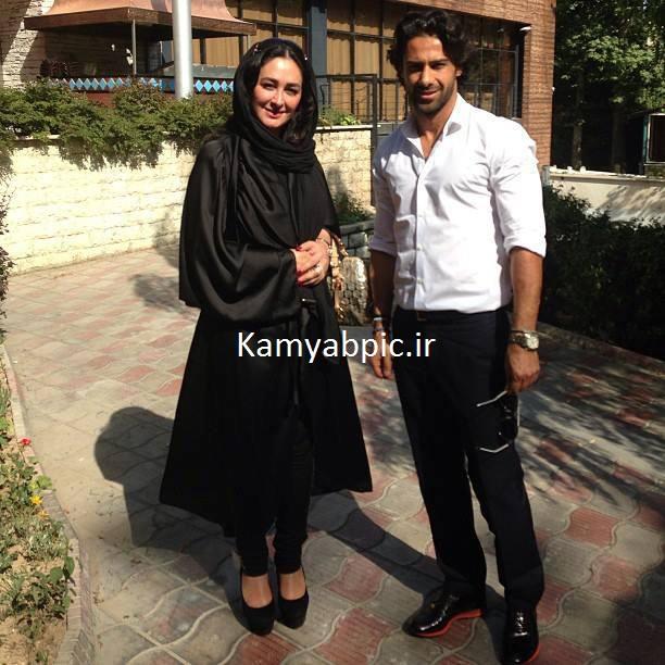 عکس الهام حمیدی و فرهاد مجیدی در ویلای شمال تهران