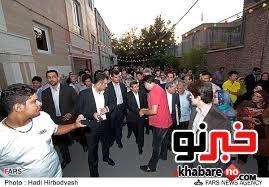 استقبال از احمدینژاد در محله نارمک