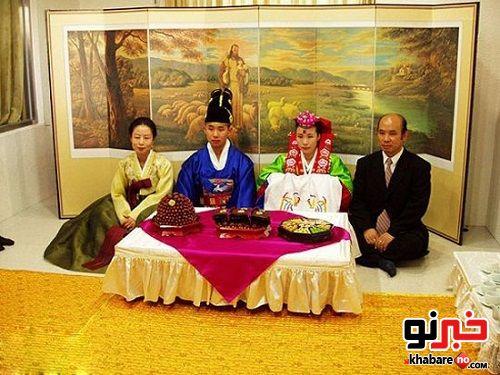 رسم عجیب شب عروسی در کره جنوبی!!