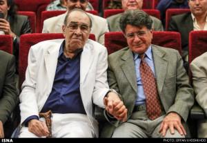 عکسی دیدنی استاد ایرج و استاد شجریان در کنار هم