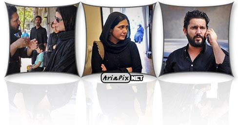عکسهای حضور بازیگران در مراسم درگذشت پدر حامد بهداد