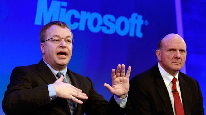 Nokia CEO Stephen Elop With Microsoft CEO Ballmer