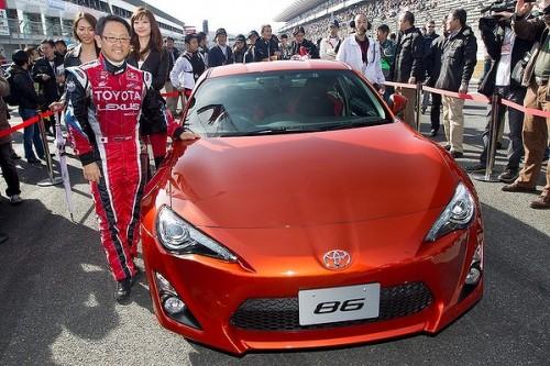 Akio Toyoda drifting the 86