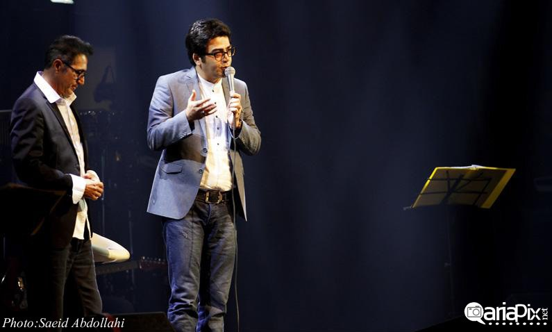 فرزاد حسنی و همسرش آزاده نامداری در کنسرت فریدون آسرایی 92