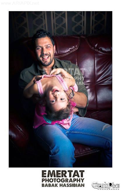 پژمان بازغی و دخترش شهریور 92