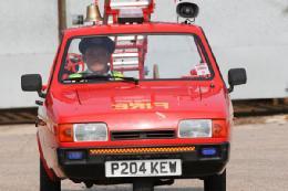 کوچکترین ماشین آتشنشانی+تصاویر