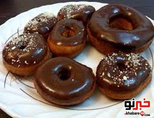 طرز تهیه شیرینی دونات شکلاتی - جديدترين اخبار ايران و جهان ممتاز نیوز