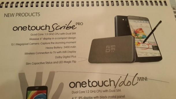 انتشار مشخصات وان تاچ اسکرایب پرو، فبلت ۶ اینچی جدید آلکاتل با قیمت ۳۰۰ دلار