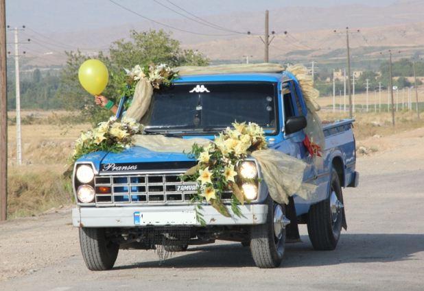 ماشین عروسی متفاوت از نوع وانت نیسان !+عکس