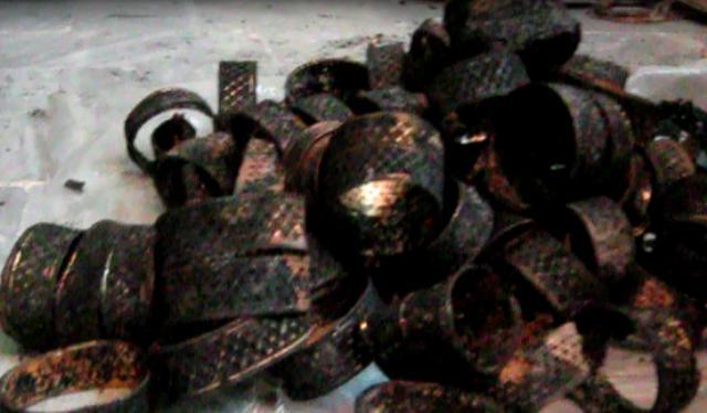 کشف۶ کیلو طلا از صحنه تصادف اتوبوس های آزاد راه قم – تهران