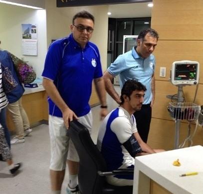 مهدی رحمتی در بیمارستانی در سئول