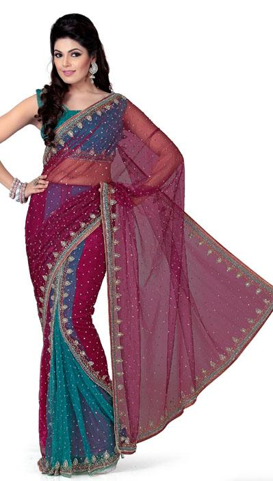 ساری هندی-لباس هندی-لباس زنانه هندی-ساری