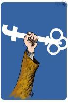 کاریکاتور/ کلید فیس بوکی!