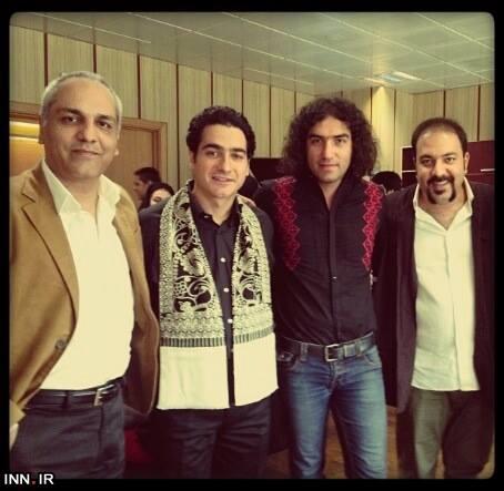 عکسی جالب از مهران مدیری در کنسرت شجریان