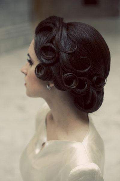 مدل موی عروس-شینیون
