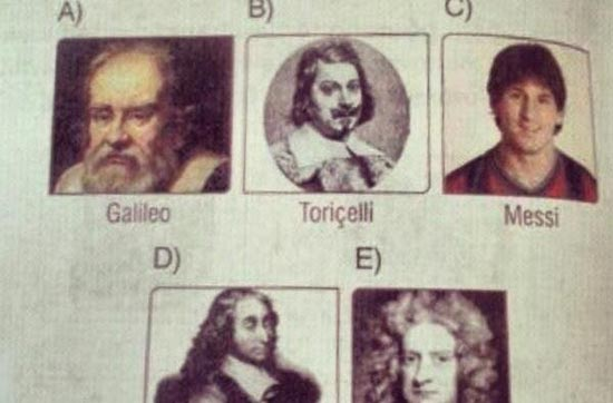 مسی در کتاب فیزیک مدارس! +عکس