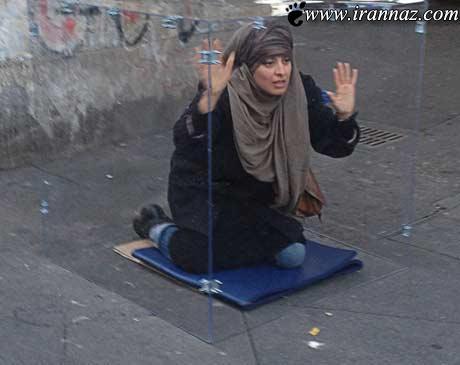 زندانی کردن این زن در زندان شیشه ای عجیب + تصویر