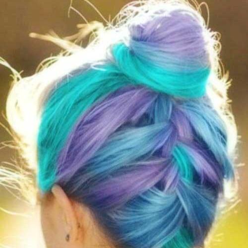 مدل رنگ موهای فانتزی دخترانه
