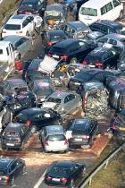 تصادف زنجیرهای 19 خودرو در آمریکا