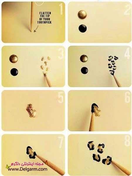 آموزش تصویری طراحی ناخن